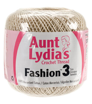 Aunt Lydia's 12 pk Fashion Crochet Threads Size 3-Natural