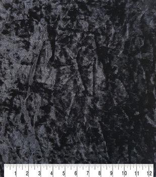 "Ember Stretch Panne Velour Fabric 57""-Black"