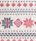 Anti-Pill Plush Fleece Fabric 58\u0022-Aspen Cream Fairisle