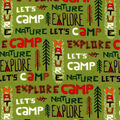Snuggle Flannel Fabric-Let\u0027s Camp Words