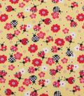 Blizzard Fleece Fabric-Gingham Ladybug On Yellow