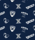 Xavier University Musketeers Cotton Fabric 42\u0022-All-over Logo
