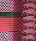 Silky Prints Shine Fabric 57\u0022-Paisley Print