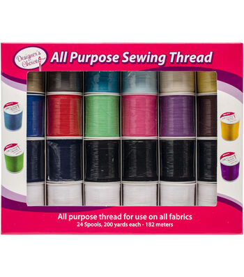 Allary Designer's Choice All Purpose Sewing Thread 24pc-Assorted Colors