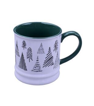 Handmade Holiday Scandimas 16 oz. Stoneware Mug-Christmas Trees