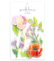 Park Lane 6 pk 3D Stickers-Flowers, , hi-res