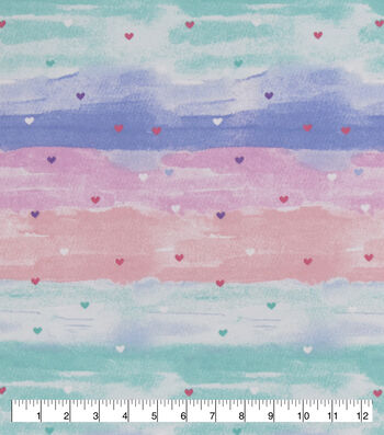 Snuggle Flannel Fabric-Watercolor Hearts