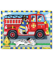 Melissa & Doug Fire Truck Chunky Puzzle, , hi-res