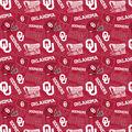 University of Oklahoma Sooners Cotton Fabric-Tone on Tone