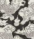 P/K Lifestyles Lightweight Decor Fabric-Dunmore Dragons/Black Orchid