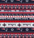 New England Patriots Christmas Flannel Fabric-Winter
