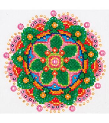 "Diamond Embroidery Facet Art Kit 11.5""X13.5""-Flower Mandala"