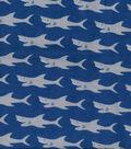 Snuggle Flannel Fabric 42\u0022-Sharks