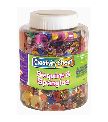 Creativity Street Sequins & Spangles Jar, Assorted Colors & Sizes