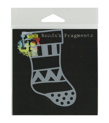 Crafter's Workshop Ronda Palazzari Fragments Template-Christmas Stocking