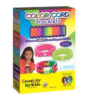 Creativity For Kids Color Cord Bracelets Kit, , hi-res