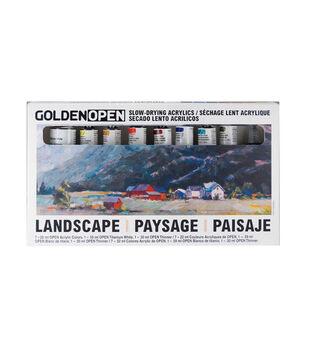 Golden Open Slow-Drying Acrylic Set-Landscape