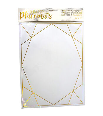 Geo Paper Placemats-Set of 8