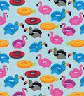 Snuggle Flannel Fabric-Flamingo Floaties