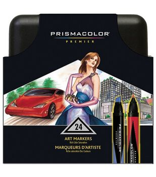Prismacolor Double-Ended Art Markers 24/Pkg-Assorted Colors