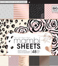 Me & My Big Ideas Mambi Single-sided Paper Pad-Black, White & Rose