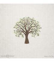 """Square By Design Multi-Purpose Decor Fabric-Tree 25"""" Woven Square, , hi-res"""