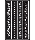Armour Products Over \u0027n\u0027 Over Reusable Stencil-Christmas Borders