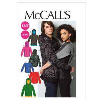 McCall's Pattern M6614 Adult Tops & Hoodies-Size S-M-L