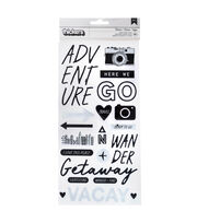 American Crafts Thicker Stickers-Travel Words, , hi-res