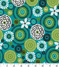 Quilter\u0027s Showcase Fabric -Floral Medallion on Capri Breeze
