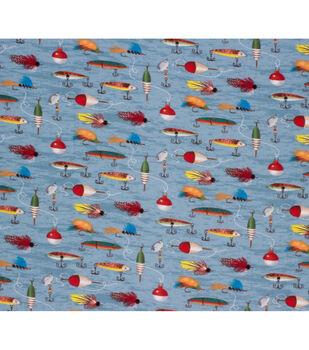 Super Snuggle Flannel Fabric-Fishing Hooks