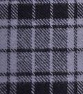Cotton Shirting Fabric 42\u0027\u0027-Gray & Black Plaid