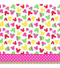 Disney Minnie Mouse Fruitolicious Tiered Mock Smock Fabric