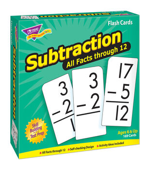 Trend Enterprises Inc. Subtraction 0-12 All Facts Flash Cards