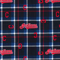 Cleveland Indians Flannel Fabric-Plaid