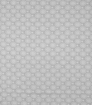 Super Snuggle Flannel Fabric-Gray Dotted Circles