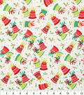 Holiday Cotton Fabric -Bells, Bows, and Holly