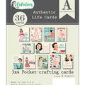 Fabulous Authentic Life Cards 3\u0022X4\u0022 Pocket Crafting & Journaling Cards