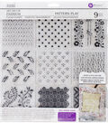 Iron Orchid Designs 9 pk Art Decor Fashion Clear Stamps-Pattern Play