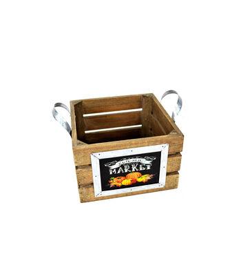 Blooming Autumn Medium Crate Planter-Market