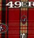 San Francisco 49ers Fleece Fabric 58\u0027\u0027-Plaid