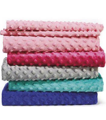 "Soft & Minky Fleece Fabric 57""-Dots"
