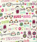 Snuggle Flannel Fabric 42\u0022-Huggable Bright