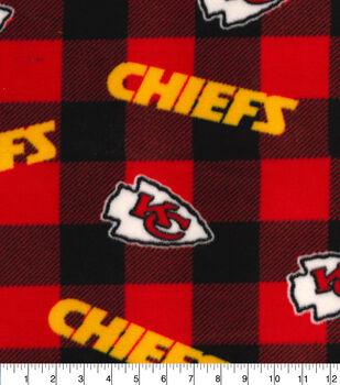 Kansas City Chiefs Fleece Fabric-Buffalo Plaid