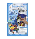 1-1/2\u0027\u0027x8-3/4\u0027\u0027 Paint By Number Value Packs-3PK/Sea Life