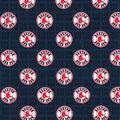 Boston Red Sox Cotton Fabric -Mini Print