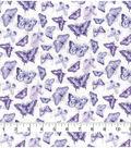 Keepsake Calico Cotton Fabric-Purple Multi Butterfly
