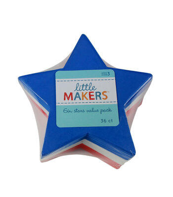 Little Makers 36Pc 6'' Value Pack-Stars