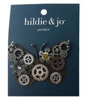 hildie & jo Gear Butterfly Pendant, , hi-res
