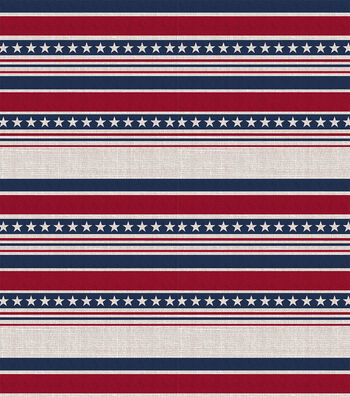 Americana Patriotic 60''x60'' Round Tablecloth-Stripes & Stars